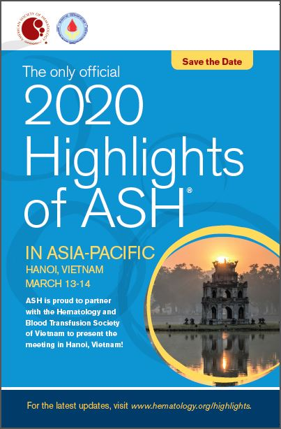 Save the Date - Highlights of ASH Asia-Pacific, March 13-14, 2020