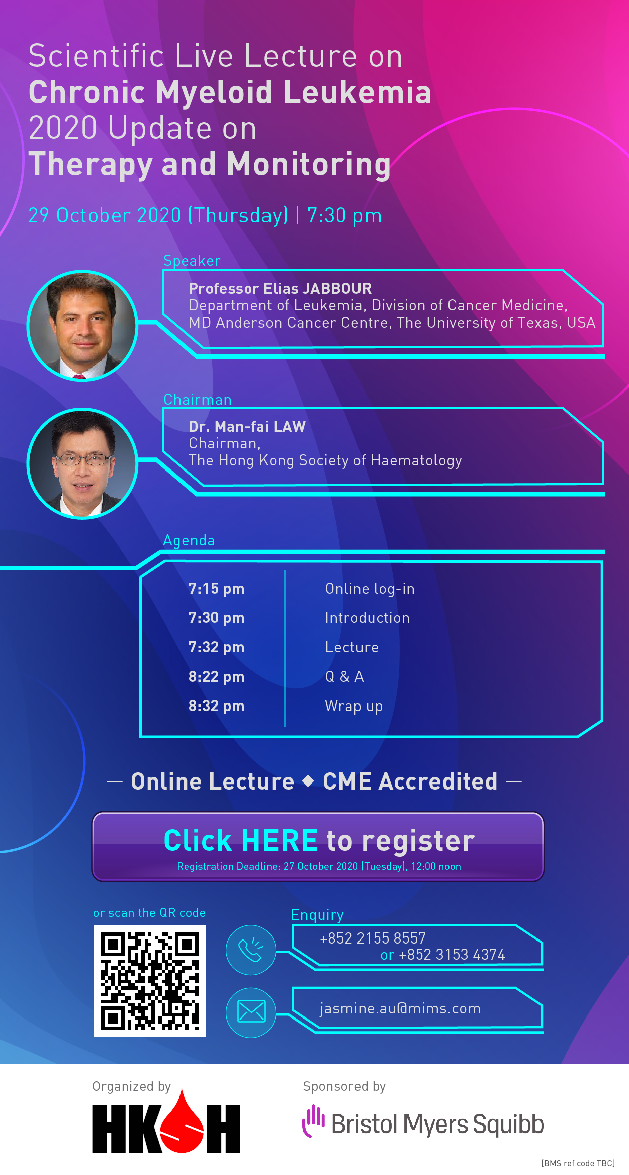 Scientific Live Lecture on Chronic Myeloid Leukemia, 29 October