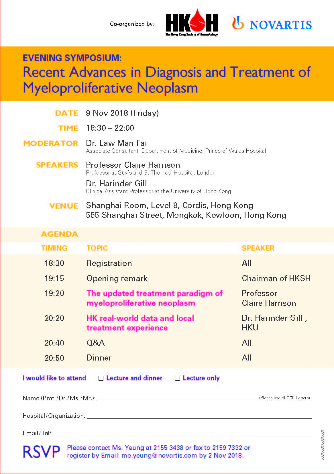 MPN lecture on 9 November 2018